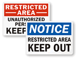 All Keep Out Signs