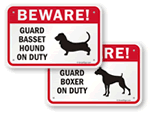 Beware of Dog Signs by Breed