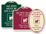 Designer Dog Poop Signs