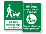 Dog Area Signs