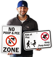 No Dog Poop Signs