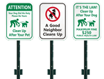 Lawnboss™ Curb Your Dog Signs