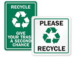 Recycling Instruction Signs
