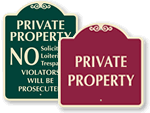 Signature Private Property Signs