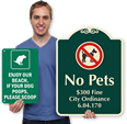 Custom Designer Dog Signs