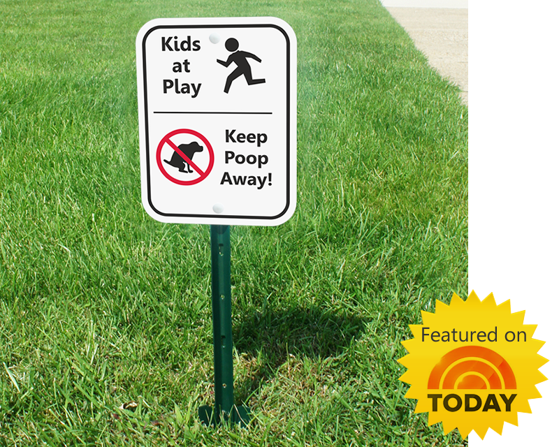 Dog Poop Sign Featured On Today Show