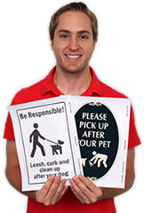 Free Dog Poop Signs