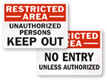 Free  InchKeep Out Inch Signs
