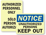Glow-in-the-Dark Keep Out Signs