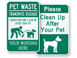 Clean Up After Your Dog Signs