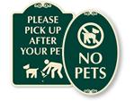 Designer Dog Poop Signs