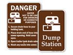 Dump Station Signs