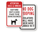 Humorous Dog Poop Signs