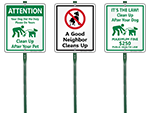 LawnBoss™ Dog Poop Signs
