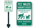 Dog Waste Signs