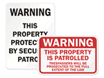 Security Patrol Signs