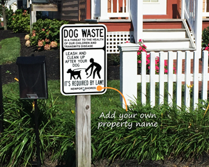 Customize your dog waste sign