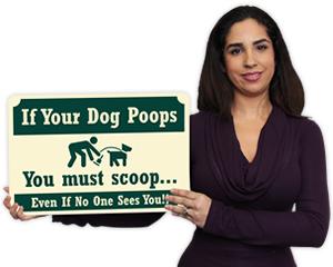 Pine Crest™ Outdoor Dog Poop Signs