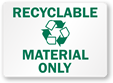Free Recyclable Waste Signs