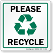 RecycleReminder™ Labels & Signs