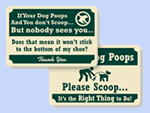 Rustic Pine Crest™ Dog Poop Signs