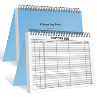 Spiral Bound Vistors Log Book