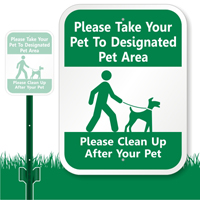 Designated Pet Area Sign