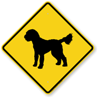 Golden Doodle Symbol Guard Dog Sign