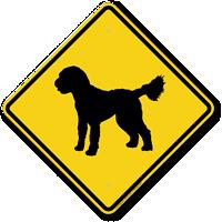 Golden Doodle Symbol Guard Dog Sign