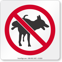 No Dog Peeing Graphic Sign
