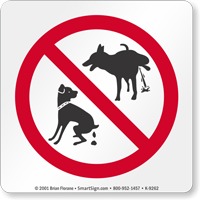 No Dog Pooping And No Dog Peeing Sign