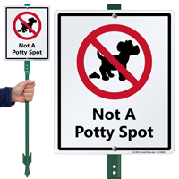 Not A Potty Spot Lawnboss Sign