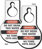 Danger Do Not Drink This Water Door Hang Tag