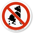 No Dog Poop ISO Sign