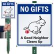A Good Neighbor Cleans Up Lawnboss Sign