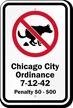 Chicago City Custom No Dog Poop Sign