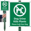 Dog Urine Kills Plant Curb Dog LawnBoss Sign