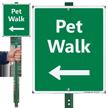 Pet Walk Left Arrow Lawnboss Sign