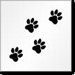 Dog Paw Prints Symbol Floor Stencil