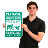 Pet Waste, Clean Up After Your Pet Sign