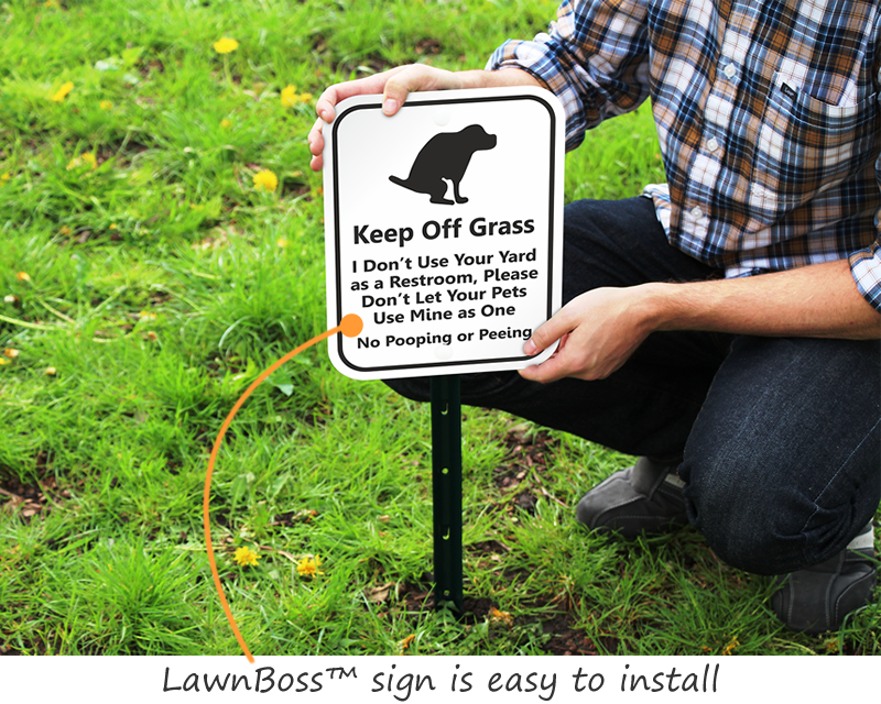 dog poop signs keep your lawn poop free with curb your dog signs