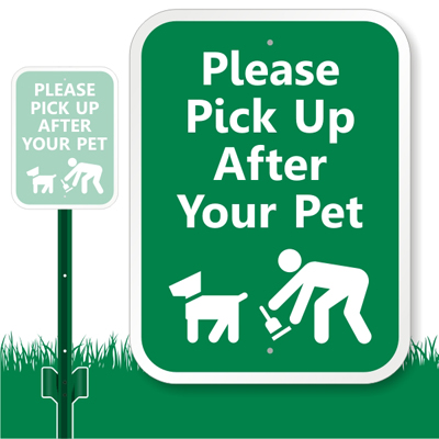 LawnBoss Dog Poop Stake & Kit Signs