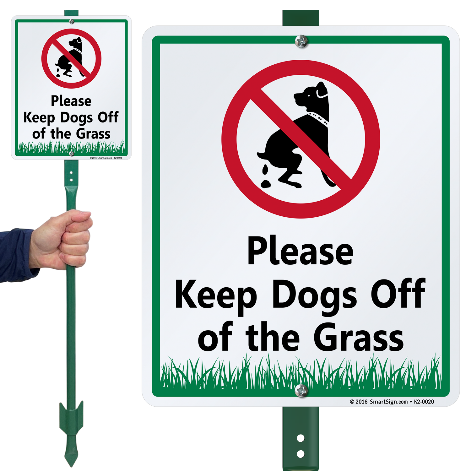 Keep Dog Off Grass Signs