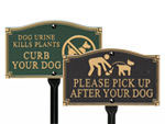 No Dog and Curb Dog Plaques