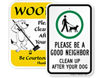Clean Up Signs