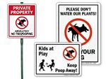 Funny Dog Poop Signs