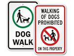 Dog Walk Signs