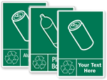 Graphic Recycling Labels