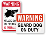 Guard Dog Keep Out Signs
