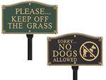 Keep Dog Off Grass Plaques